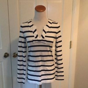 Kate Spade Navy and White Striped Bow Top size XS